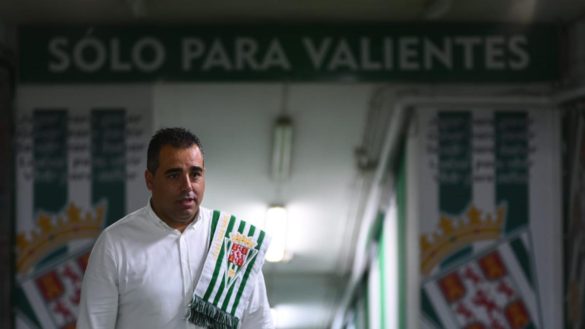 Germán Crespo, en su presentación en el Córdoba CF.