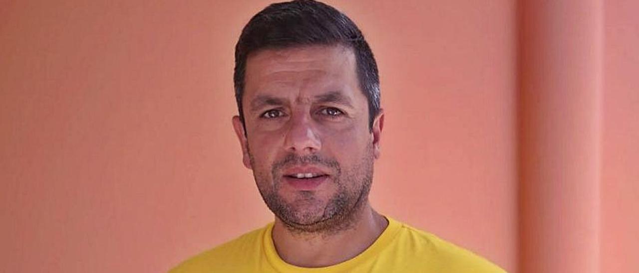 Gelo Martínez, nuevo técnico del Club Deportivo Moaña.    // FDV