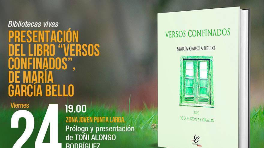 Presentación del libro Versos confinados de María García Bello
