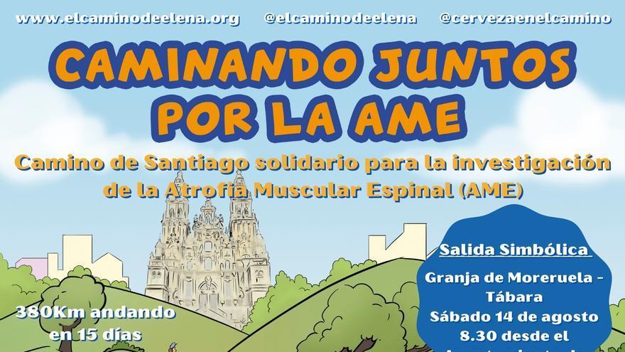 """En ruta por el Camino de Santiago """"sanabrés"""" contra una enfermedad rara: la atrofia muscular espinal"""