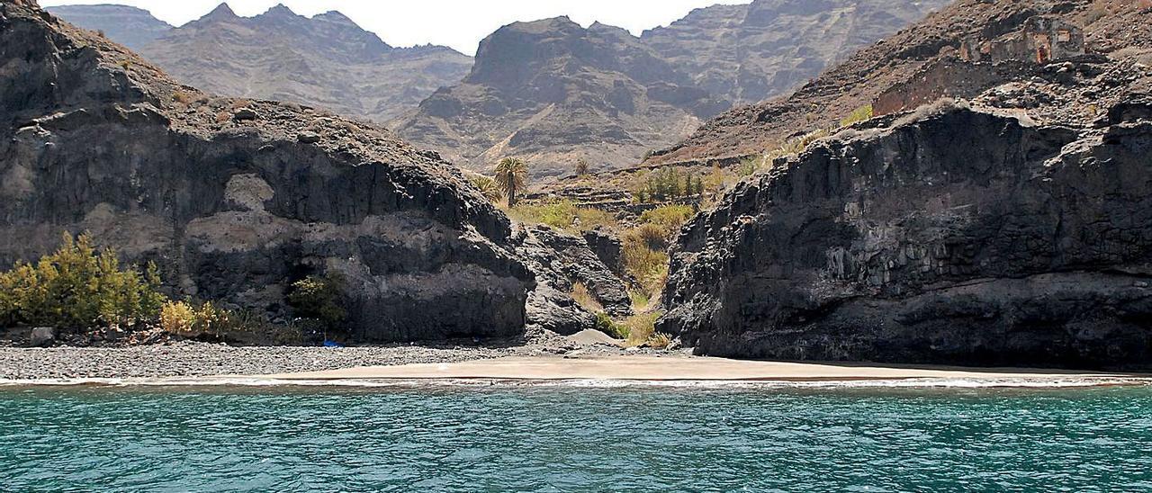 Playa y barranco de Guguy, en el municipio de La Aldea. | | LP/DLP