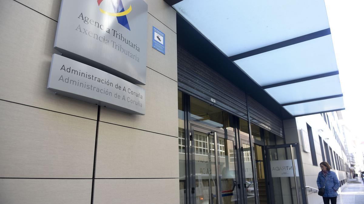 Sede de la Agencia Tributaria en A Coruña.