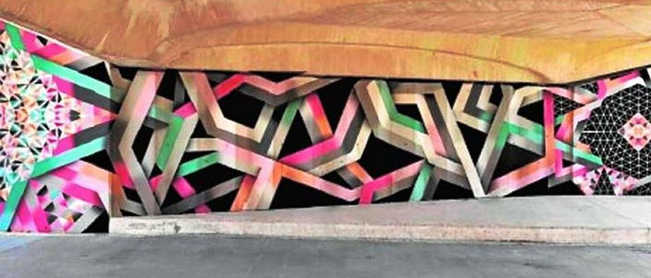 Figuración de uno de los murales que se podrían pintar en el Jardín del Turia | A.Z.A.M.