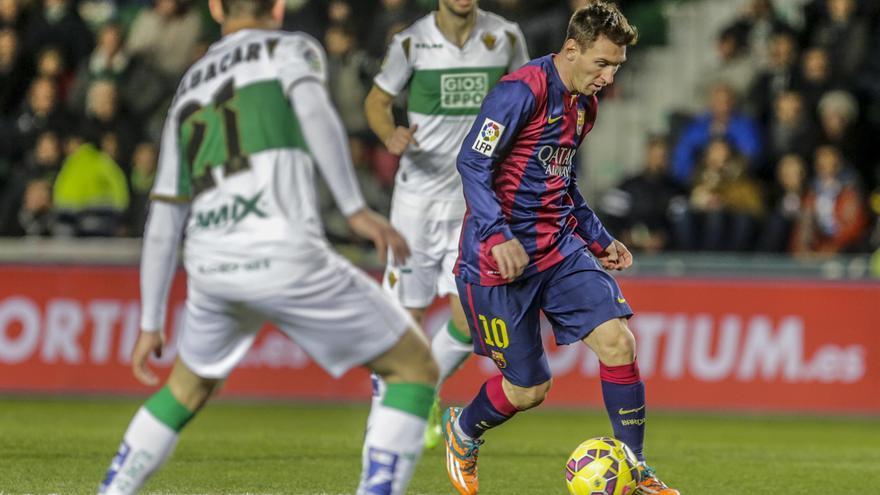 El Elche solo ha podido sumar tres empates en las últimas ocho visitas del Barcelona