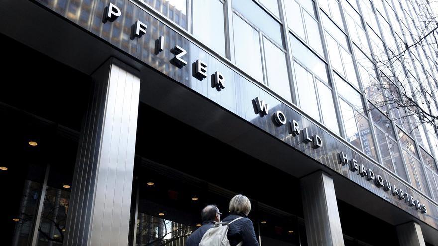 Oficinas de Pfizer en Nueva York.