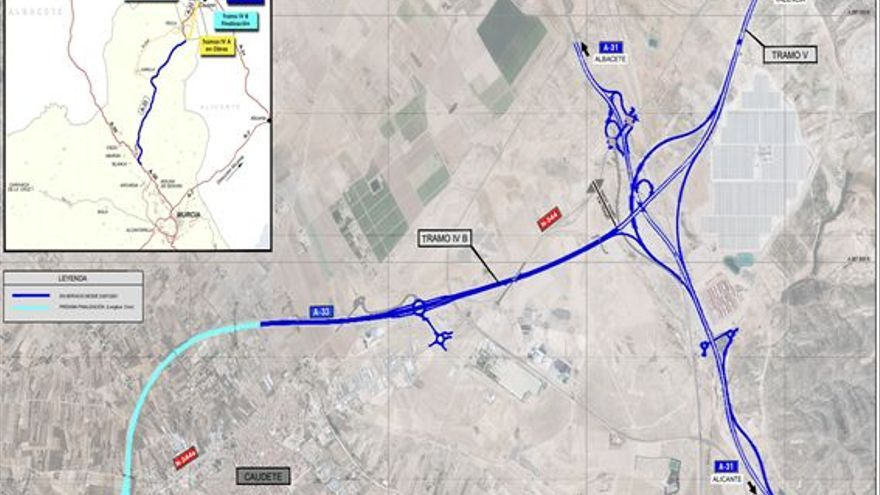 El Gobierno pone en servicio 3 nuevos kilómetros de la A-33 entre los enlaces de Caudete próximos a Villena