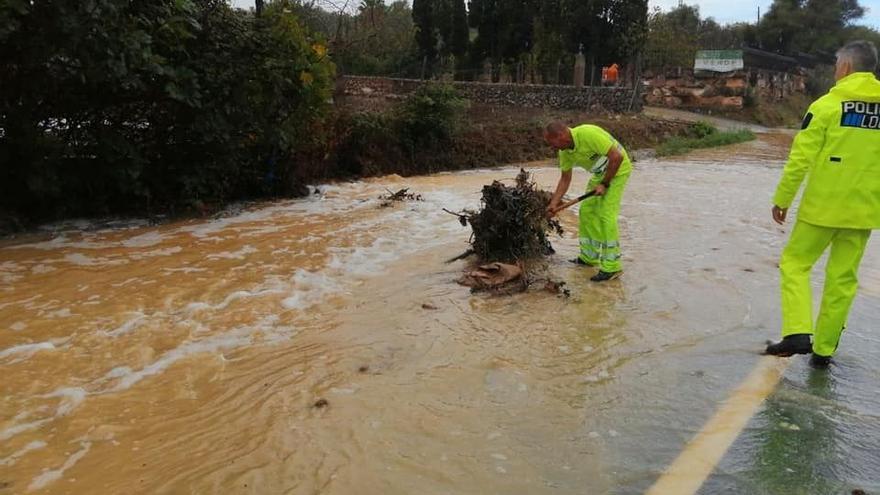 Reabiertas todas las carreteras de Mallorca afectadas por el temporal