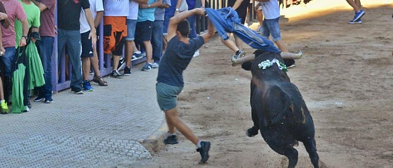 Festejo taurino celebrado en Almenara durante las fiestas patronales.