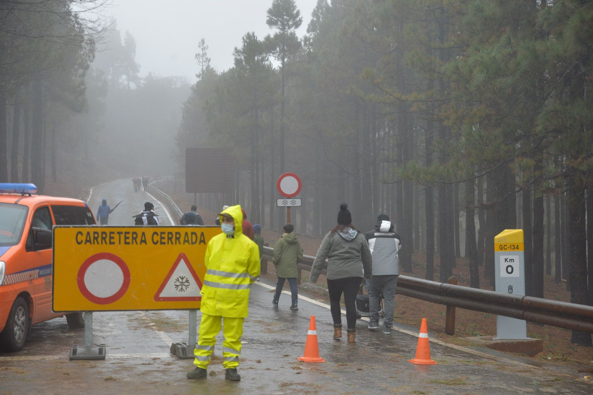 Nueva jornada de lluvias en Gran Canaria por el paso de la borrasca 'Filomena'