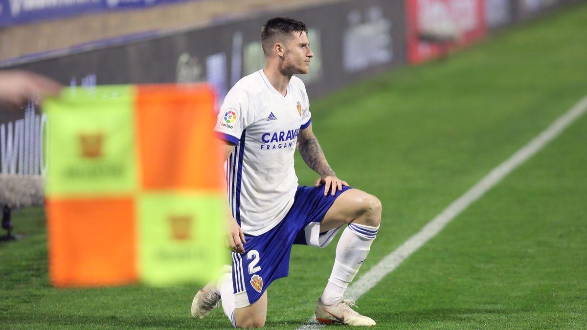 Vigaray, en un partido con el Zaragoza de esta temporada.