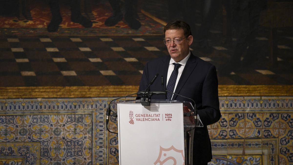 Ximo Puig durante el homenaje a Ernest Lluch.