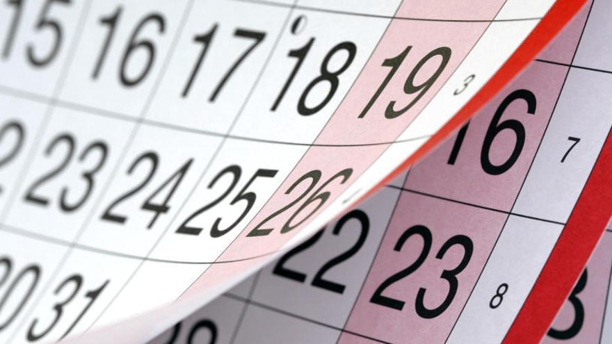 El BOE publica el calendario laboral de 2019