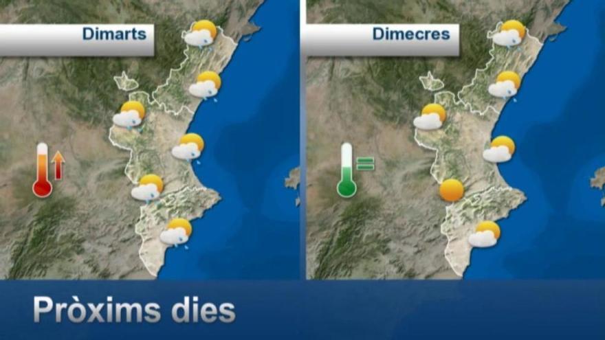 El tiempo en Valencia: La gota fría amenaza con lluvias y tormentas localmente fuertes