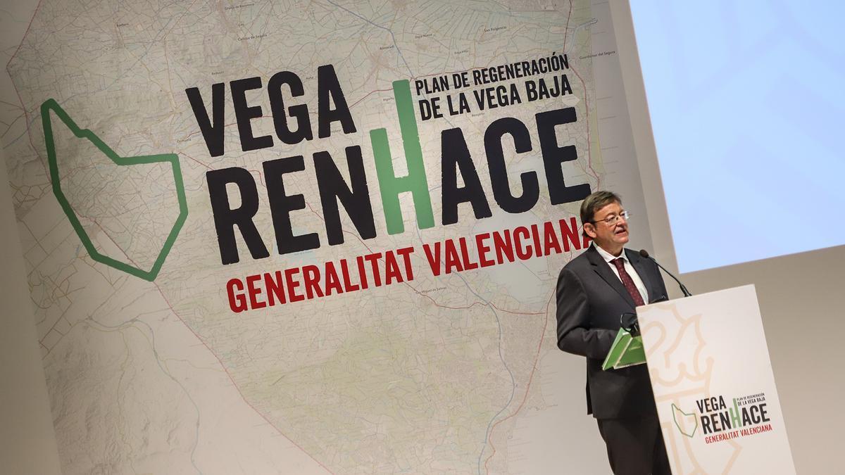 Ximo Puig en la presentación del Plan Vega Renhace.