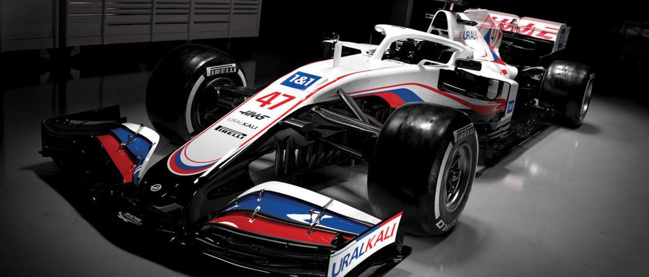 La AMA investiga a Haas por pintar su coche con los colores de la bandera rusa