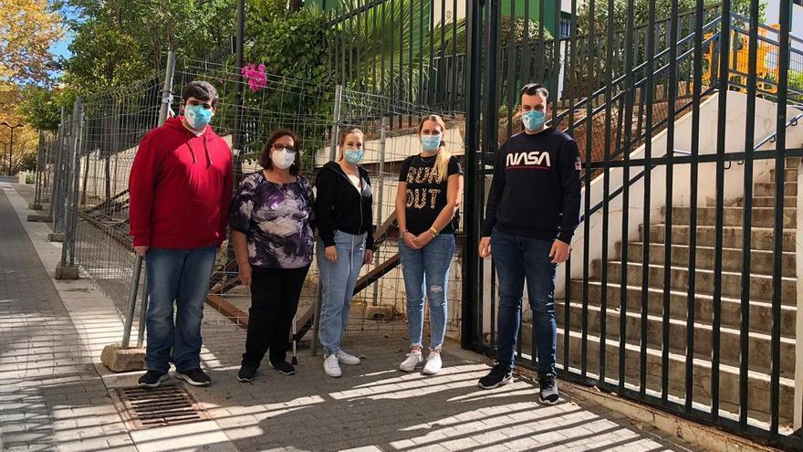 El PSOE pide mejoras en el muro del colegio Federico García Lorca