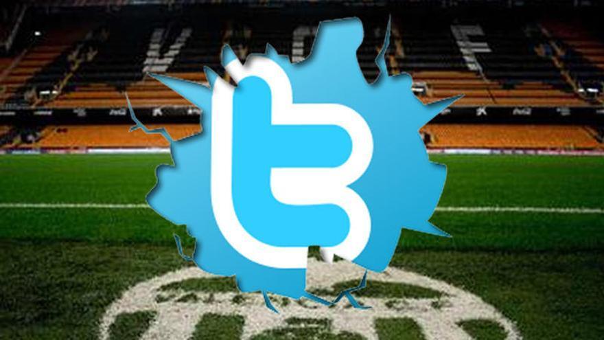 El Valencia se la pega en Twitter