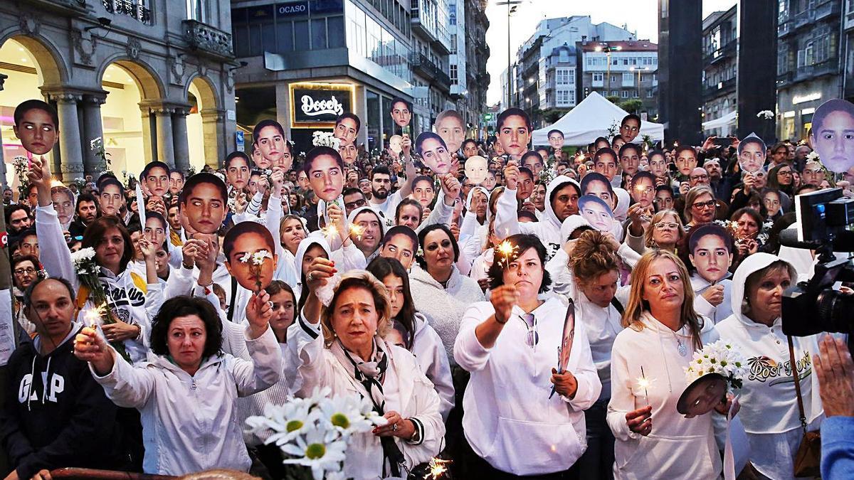Un acto de homenaje organizado en 2019 para pedir justicia para Déborah. // MARTA G. BREA