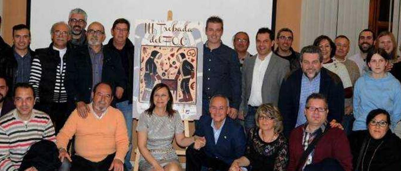 El cartel de la Trobada del Foc reivindica la «cordà» y el «socarrat» de Paterna