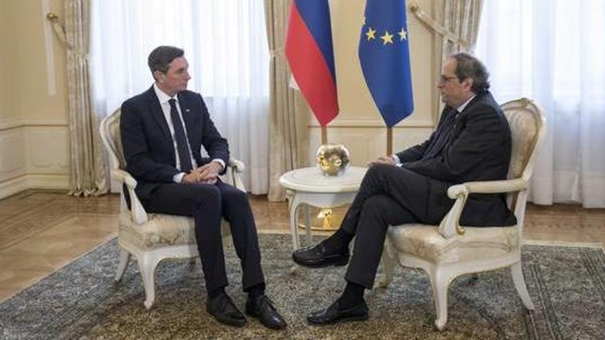 El president d'Eslovènia rep Torra a Ljubljana
