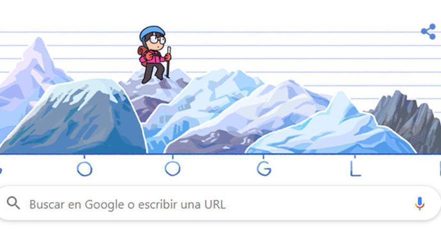 Google homenajea con su 'doodle' a Junko Tabei, la primera mujer en coronar el Everest