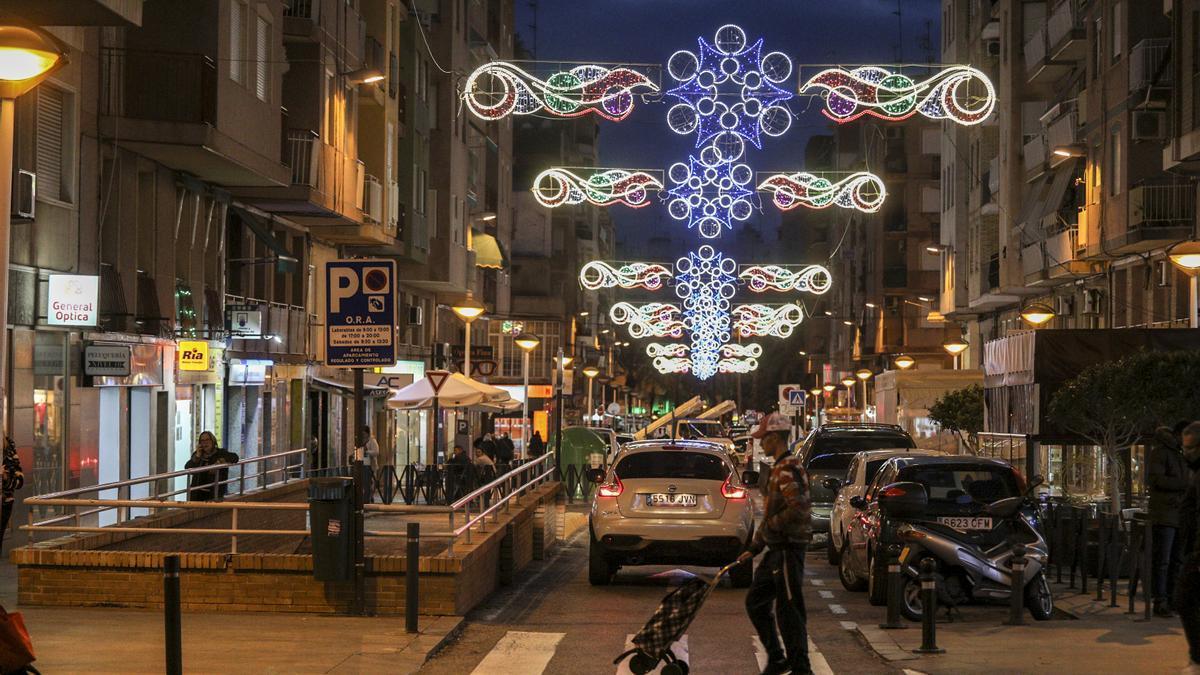 Luces de Navidad en Elche, en imagen de archivoa