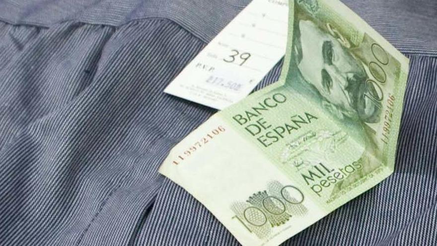 Los españoles conservan aún pesetas por valor de 1.605 millones de euros