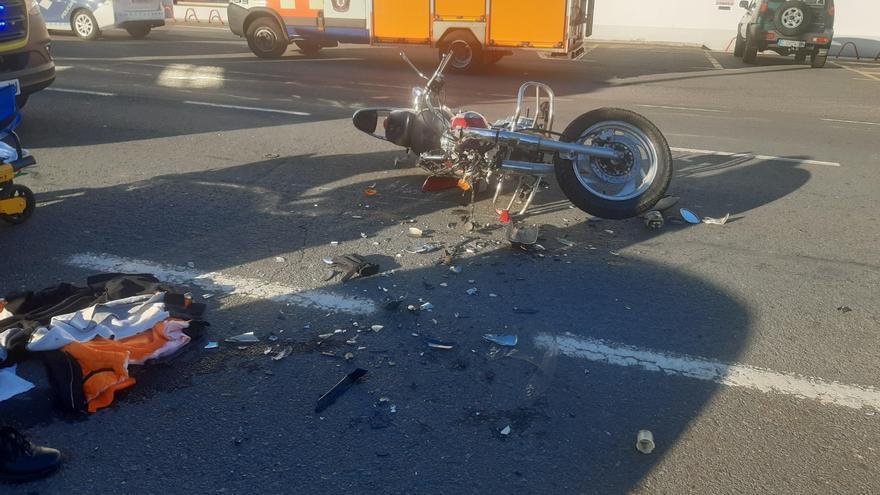 Herido grave un joven motorista de Caldas en un accidente en Vilagarcía