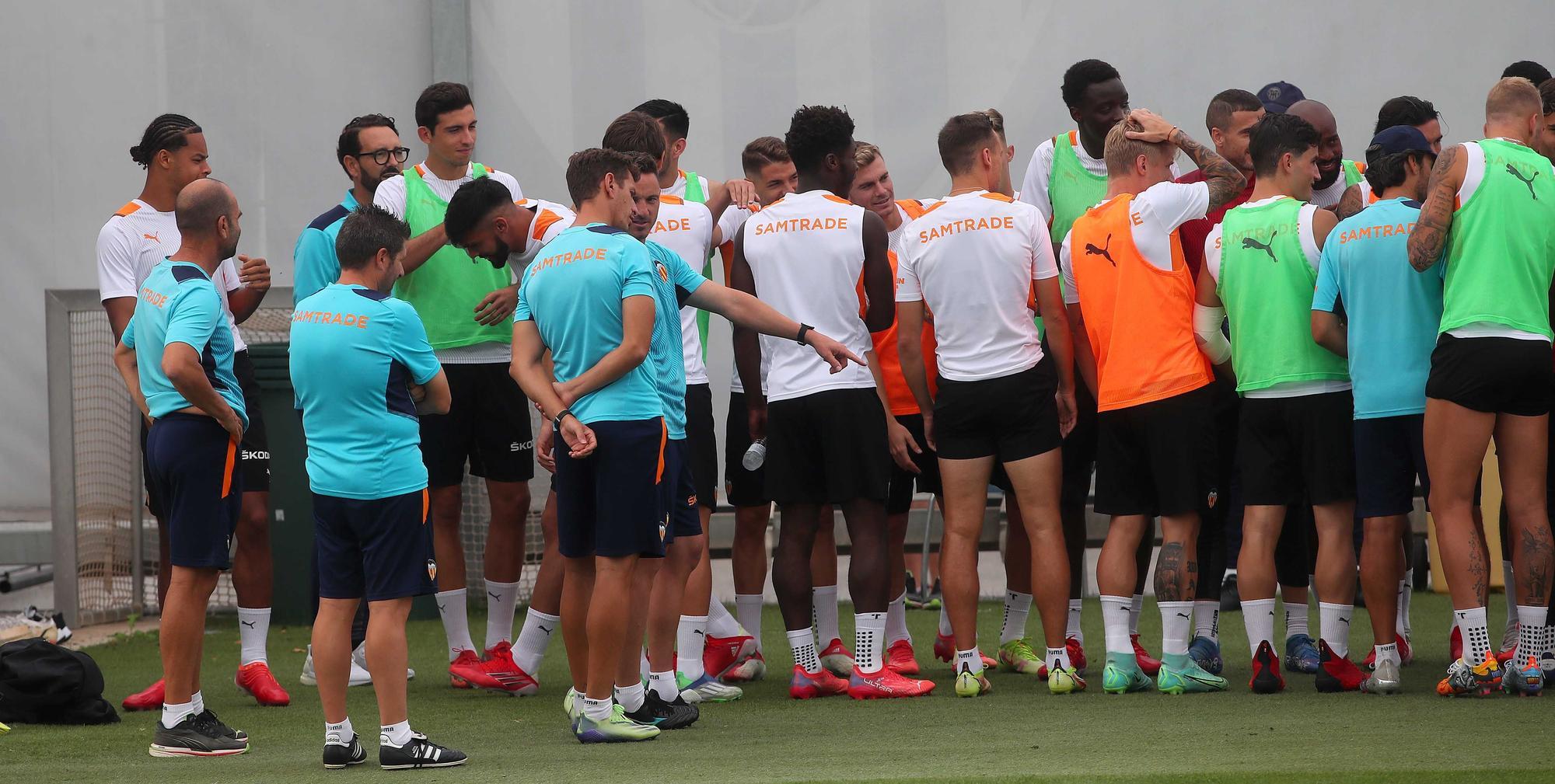 Entrenamiento del Valencia CF hoy