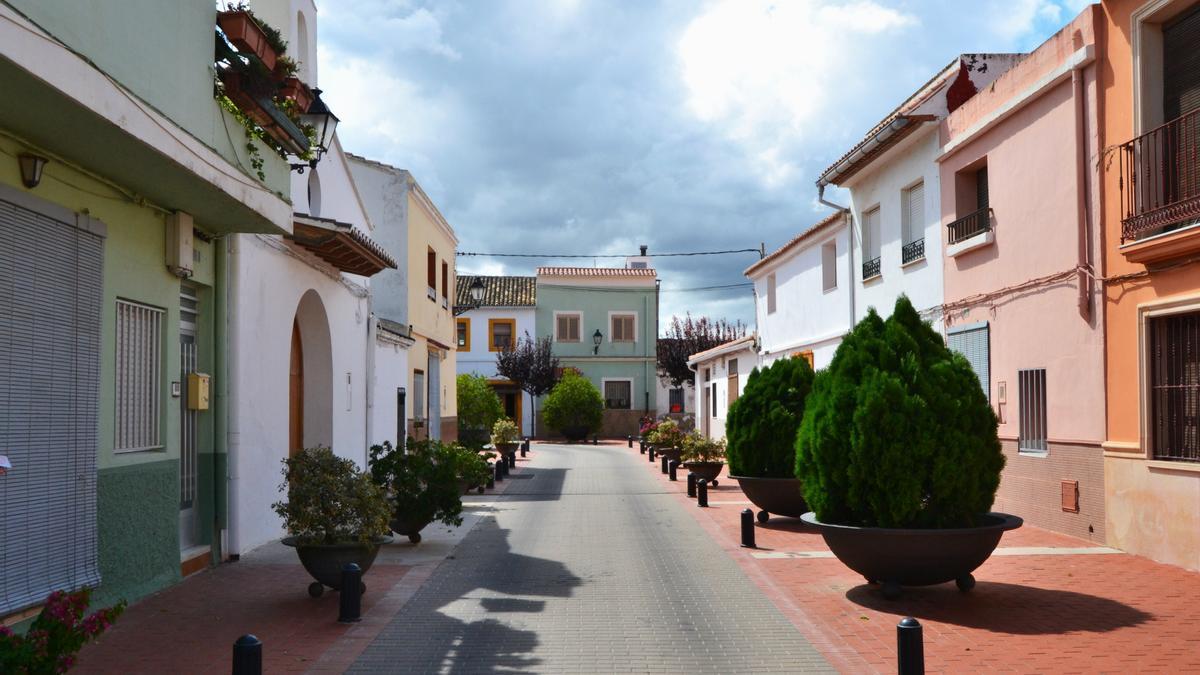 Una de las calles de Guardamar de la Safor
