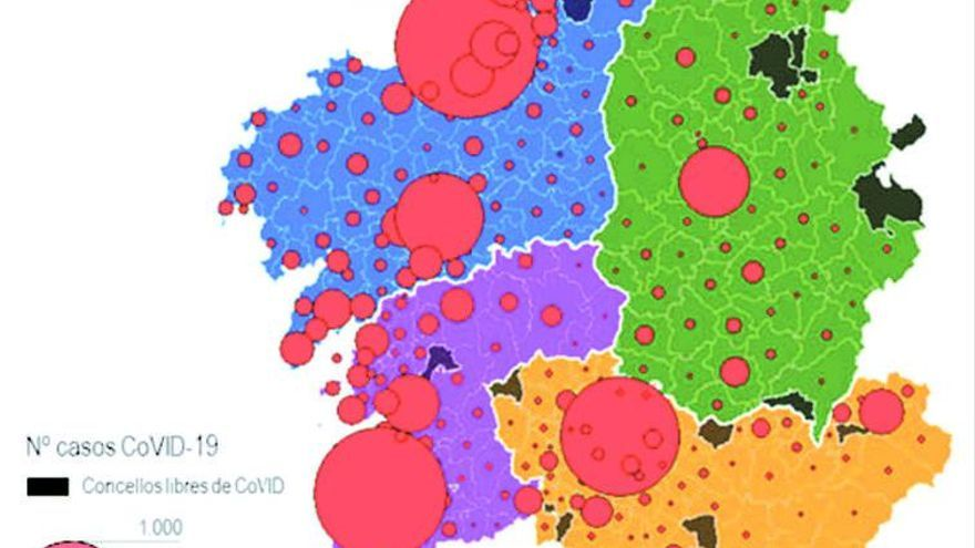 Investigadores gallegos crean mapas de riesgo del virus para saber cómo se propaga