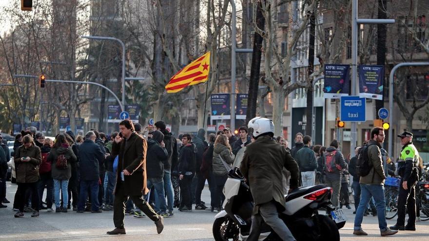Protestas en Cataluña contra el juicio del 'procés'