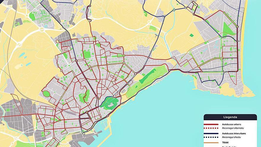 Los expertos piden líneas de autobús urbano que conecten los barrios de Alicante sin pasar por el centro