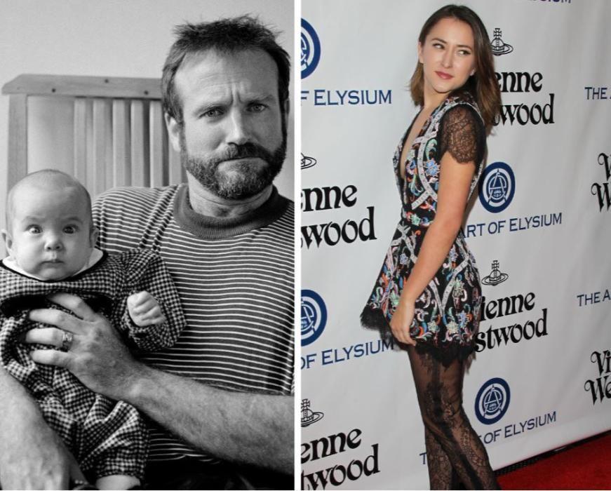 La hija del recordado Robin Williams. También tuvo dos varones.