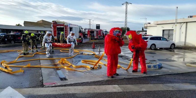 Los Bomberos de Zaragoza realizan un simulacro de fuga de gas