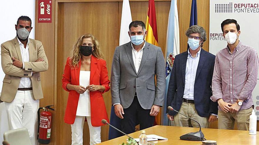 El Val Miñor ganará 12.000 m2 de zonas peatonales con el apoyo de la Diputación