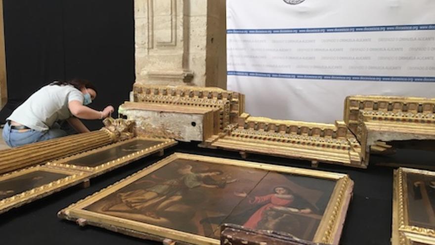 La UMU y el Museo Diocesano de Arte Sacro de Orihuela hallan un retablo inédito del siglo XVI