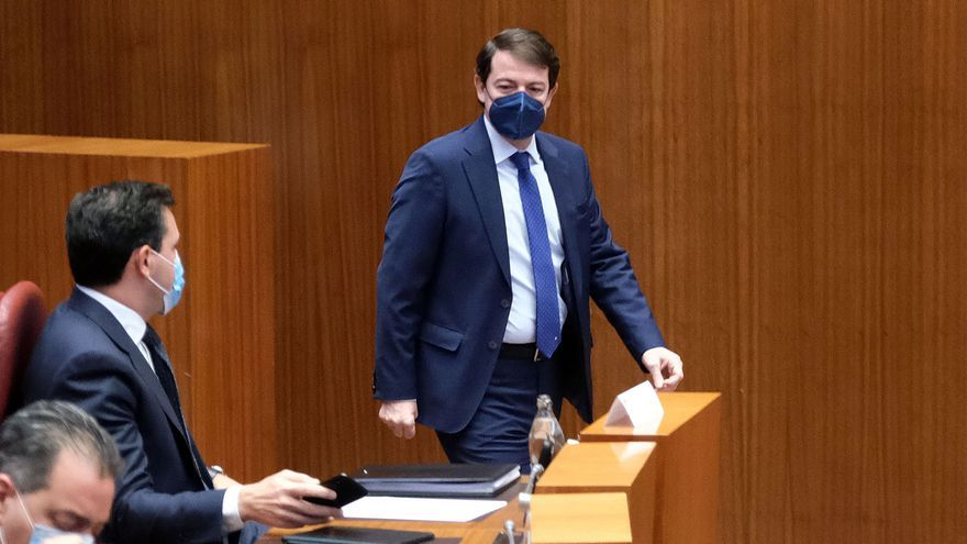 """Mañueco aplaude el primer trámite de los Presupuestos, que """"permitirán reforzar el escudo social mientras vencemos al virus"""""""