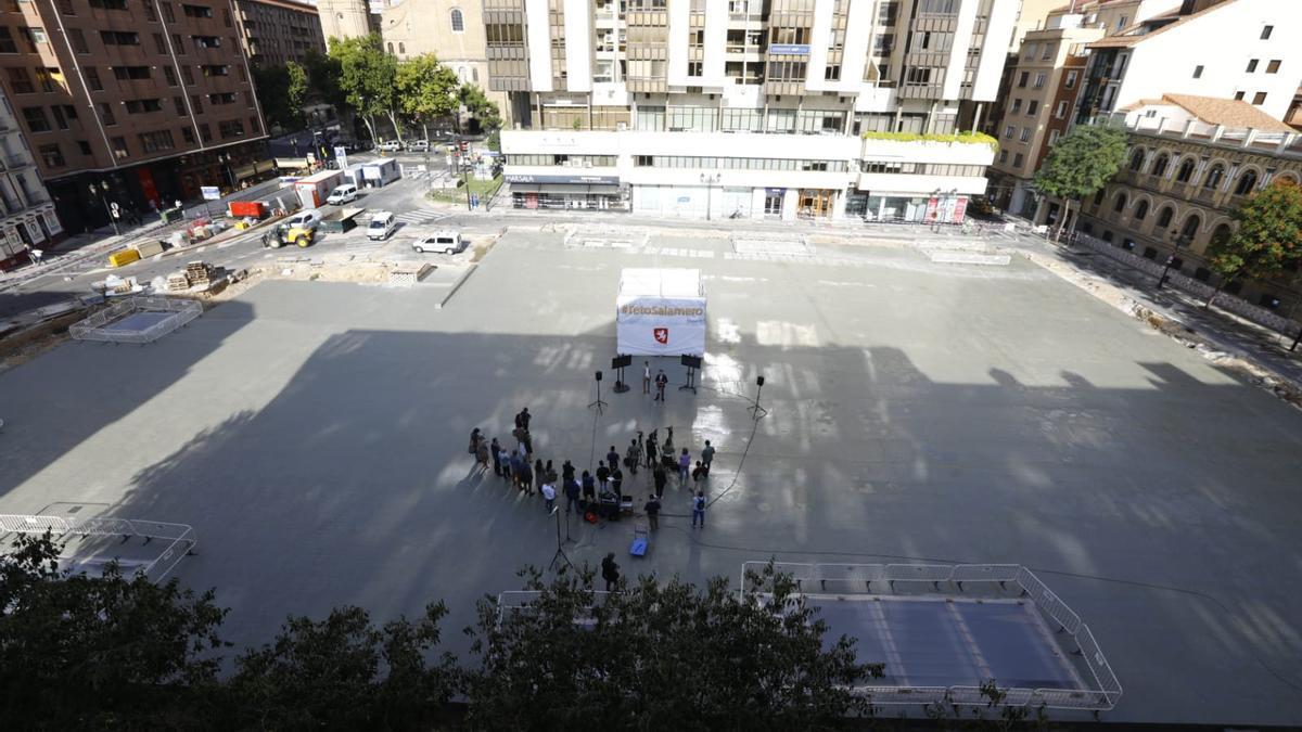 La plaza Salamero de Zaragoza.