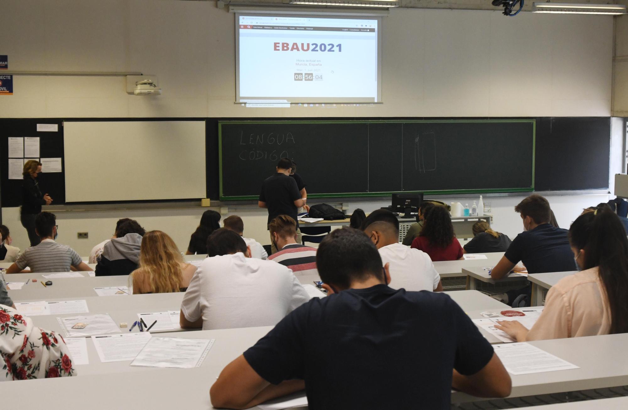 Selectividad 2021 en el campus de Espinardo, en Murcia