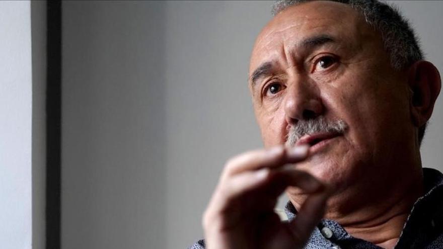 """Pepe Álvarez: """"Nuestros pactos deberían ayudar a destensar la política"""""""