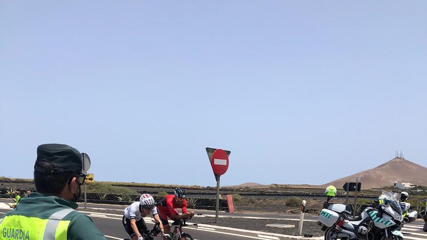 Dispositivo de tráfico para el Ironman Lanzarote