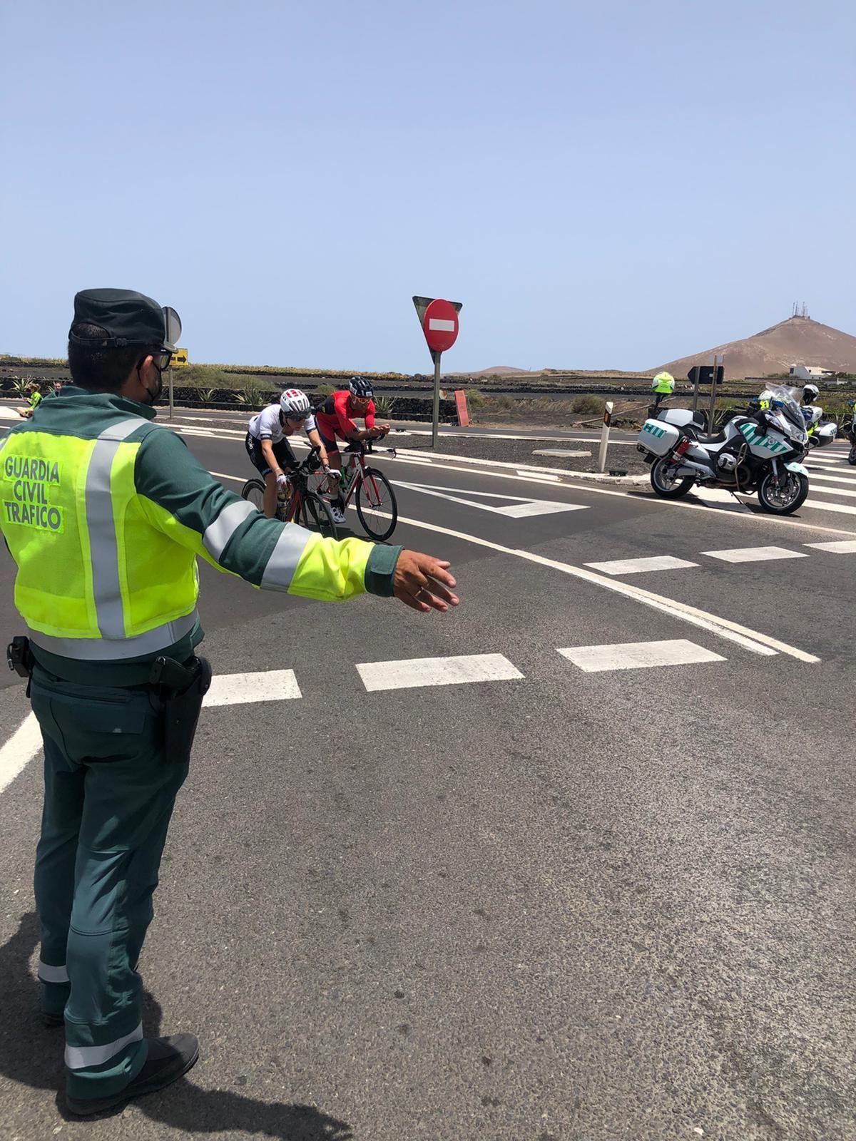 Dispositivo de tráfico para el Ironman
