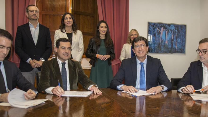 PP y Cs diseñan el gobierno andaluz y Díaz anuncia que liderará la oposición