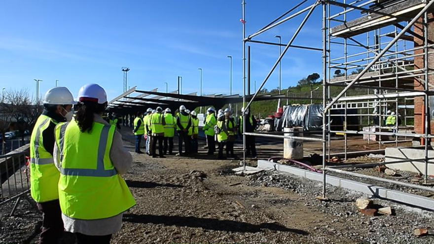 La obra de la estación de tren de Plasencia está al 50% de ejecución y terminará en verano