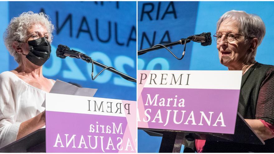 ERC lliura els premis Maria Casajuana a Fina Dordal i a l'associació L'Olivera