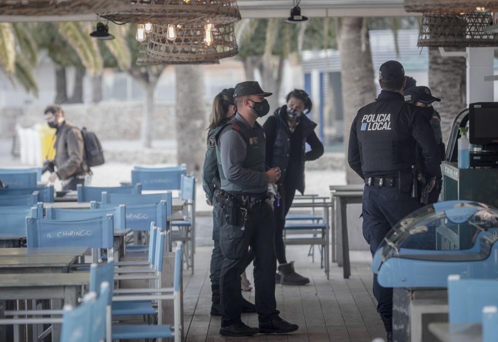 Starke Polizeipräsenz am Wochenende auf Mallorca