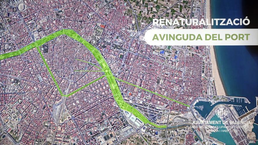 Así será la avinguda del Port de València