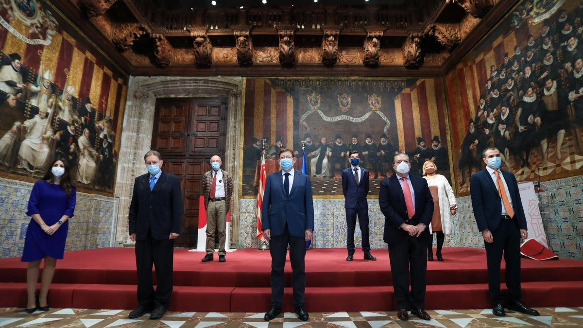 """COMUNIDAD VALENCIANA.-Puig muestra el """"agradecimiento y reconocimiento del pueblo valenciano"""" a los premiados con los Rei Jaume I 2020"""