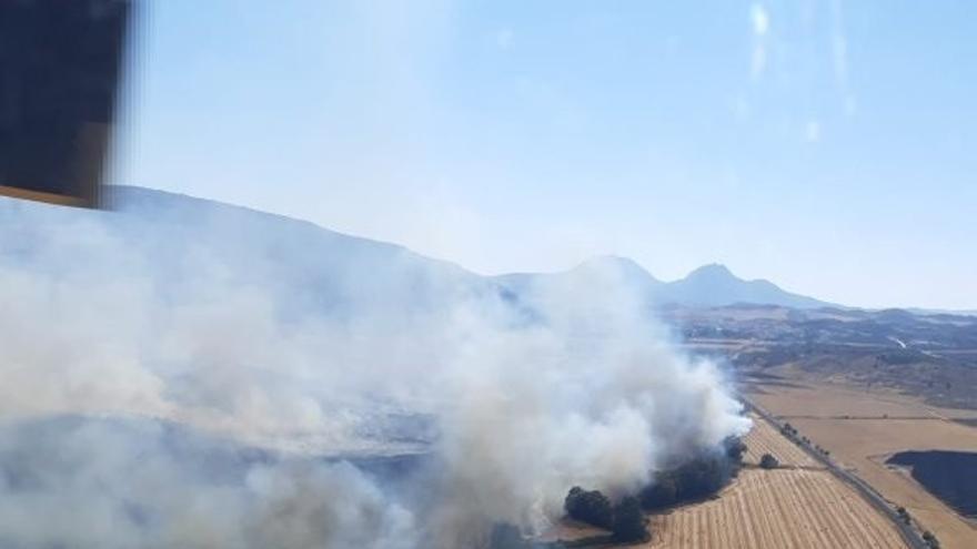 Extinguido el incendio forestal declarado en Teba